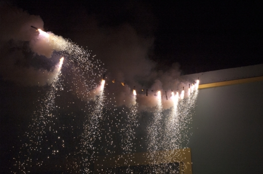 Fireworks for Dia de los Muertos, Oaxaca, Mexico / Andreja Brulc